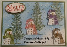 Snowmen on the hill by Veronica Kettle, Stamp Set Holiday Lineup