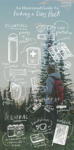 Packing Your Day Pack: An Illustrated Guide — She Explores: Women in the outdoors.