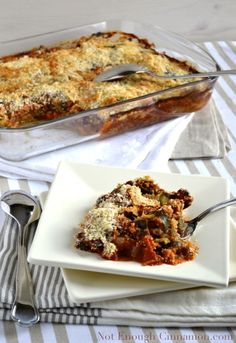 *Vegetarian Boyfriend makes cooking more creative... Veggies Gratin With A Crispy Golden Parmesan Topping -