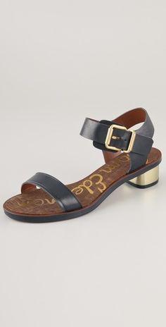 sandals w/ metallic heel