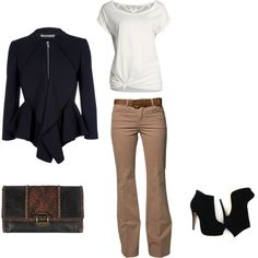 Casual night-out outfit, created by marialiway on Polyvore