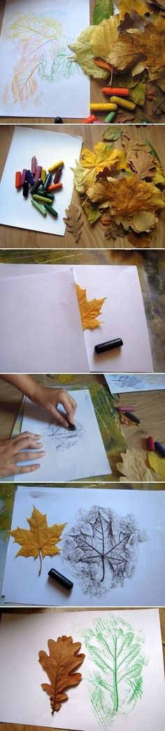 Placemat for Thanksgiving - DIY Leaf Drawings diy crafts craft ideas easy crafts diy ideas diy idea diy home easy diy diy art for the home crafty decor home ideas diy decorations craft art autumn crafts fall crafts Autumn Crafts, Autumn Art, Nature Crafts, Holiday Crafts, Diy Christmas, Autumn Leaves, Christmas Cards, Diy Nature, Harvest Crafts
