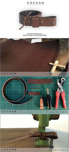 00 belt making of Leather Kits, Leather Pouch, Leather Tooling, Leather Diy Crafts, Leather Projects, Leather Tutorial, Leather Workshop, Leather Pattern, Leather Design