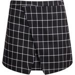 Black Plaid Wrap Mini Skirt