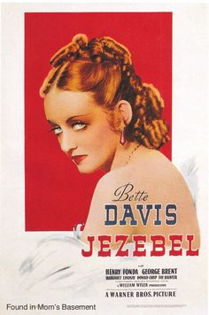 Vintage Movie Poster: Jezebel, starring Bette Davis, 1938