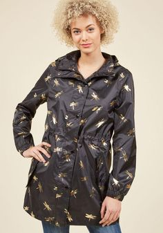ModCloth - Joules The Showers That Be Raincoat in Dragonflies in 6 - AdoreWe.com