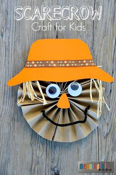 Paper Pinwheel Scarecrow Tutorial - Fun Autumn or Fall Craft Idea for Kids