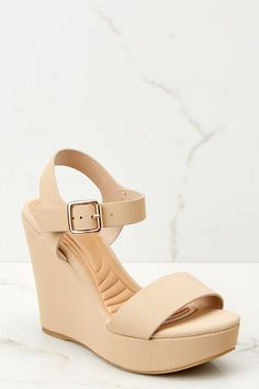 0d86e76b3c8 Too Good For You Nude Wedges (BACKORDER 4 26)