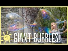 DIY Bubble Recipe - Giant Bubbles - My Life and Kids