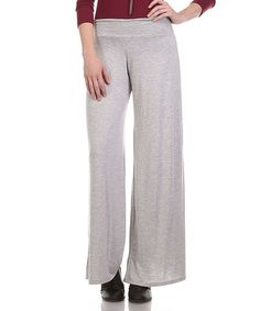 Another great find on #zulily! Gray Palazzo Pants - Plus #zulilyfinds