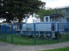 Last train to San Fernando now stands on the Harris Promenade San Fernando, Trinidad.