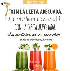 """Hábitos Health Coaching   """"Sin la dieta adecuada, la medicina es inútil; con la dieta adecuada, la medicina no es necesaria"""""""