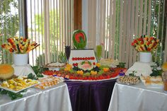 Wedding Fruit Tables #simply delicious