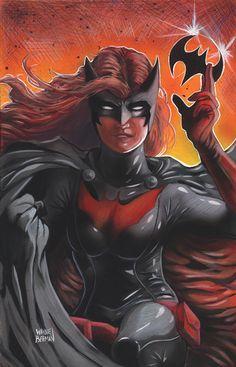 Batwoman painting.