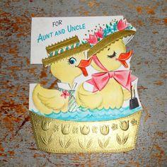 Vintage Greeting Card Easter Hallmark Aunt & Uncle by TheBackShak, $4.00