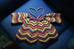 Ravelry: #201 Baby's Rippled Sweater Set pattern by Nell Armstrong