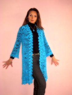 Crochet coat. $1,100.00, via Etsy.