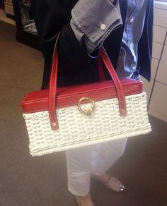 All-American Kate Spade wicker purse.