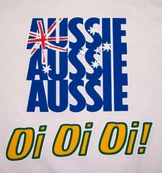 famous red white and blue of the aussie flag with the traditional green and gold of Australia reflecting the Oi Oi Oi Australian Party, Australian People, Australian Slang, Australian Icons, Australian Vintage, Sydney Australia, Western Australia, Australia Funny, Australia Photos