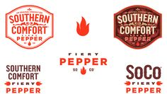 Southern Comfort Fiery Pepper is a fusion of two Louisiana classics, Southern Comfort and Tabasco. Devilishly spicy with a genuine Cajun heat, Fiery Pepper invites new consumers into the Southern Comfort brand with a taste that's challenging and fun. Packaging Design Inspiration, Logo Inspiration, Branding Design, Logo Design, Graphic Design, Book Layout, Southern Comfort, Marketing, Typography Poster