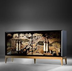 Give to your house decor a unique touch with this amazing furniture design! Asian Furniture, Chinese Furniture, Oriental Furniture, Cabinet Furniture, Luxury Furniture, Painted Furniture, Modern Furniture, Home Furniture, Furniture Design