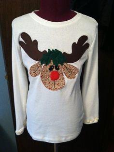 Rudolf applique on Target Tshirt for Delilah