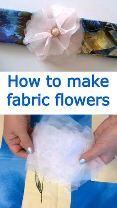 In this video sewing tutorial I will show you how to make fabric flowers by folding fabric. This is an easy sewing project even for beginners. Learn how to sew easy fabric flowers. #sewingtutorials #easysewingpojects #fabricflowers