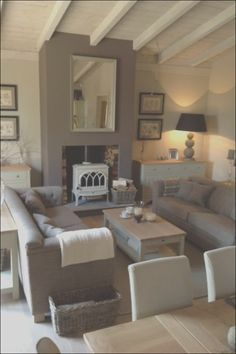 Cosy living room- Neptune interior decor showroom, Southport,UK Eyebrow Makeup Tips Brown Couch Decor, Brown Couch Living Room, My Living Room, Cream And Brown Living Room, Cream Living Room Decor, Country Style Living Room, Cozy Living, Small Living, Country House Interior