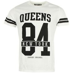 Tee Shirt Crossby Boston Queens Blanc - LaBoutiqueOfficielle.com