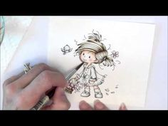 How to Color an Image with Distress Inks Example
