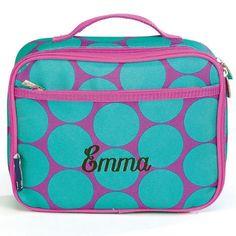 Aqua Dots Lunch Bag $24.99 Luggage Brands, Lunch Box, Aqua, Dots, Big, Design, Stitches, Water