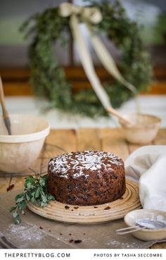 No Christmas celebration is complete without a traditional fruitcake. And Christine got us this recipe for a delicious fruitcake from her mom's friend Sandy.