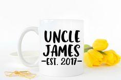 Uncle Mug, New Uncle Mug, New Uncle Gift, Gift for Uncle, Pregnancy Reveal Idea, Pregnancy Announcement, Baby Announcement, Gifts for Uncle
