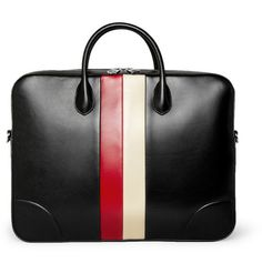 Gucci Striped Soft Leather Briefcase-graduation gift ?