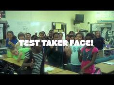 Test Taker Face!  I love everything about this and seriously want to do this with my class!  What a fun spin on something not-so-fun.