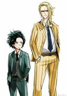 All Might & Midoriya Izuku    Boku no Hero Academia