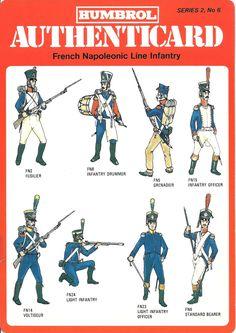 soldatini uniformi e storia militare: Humbrol French Napoleonic Line Infantry
