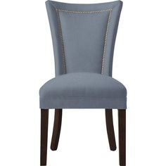 Custom Dining Chair with Nailheads (9.290 RUB) ❤ liked on Polyvore featuring home, furniture, chairs, dining chairs, nailhead accent chair, nailhead trim dining chair, nailhead chair, home decorators collection and nailhead dining chair
