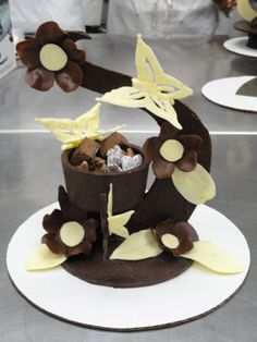 Chocolate Candy Stand--The first chocolate showpiece I ever made. I think it came out quite well!