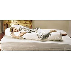 @Overstock - The Original Sleeping Bean Body pillow is the first and finest body pillow made. Its extra-long cylindrical shape was designed to conform naturally to the human body to allow sleeping in the healthiest possible position the semi-fetal curl.http://www.overstock.com/Main-Street-Revolution/Sleeping-Bean-Body-Pillow/6698387/product.html?CID=214117 $65.99