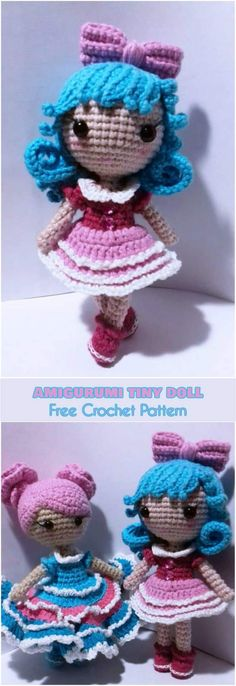 Amigurumi Tiny Doll [Free Crochet Pattern]