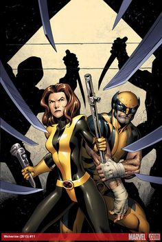 Kitty Pryde and Wolverine by Alan Davis * [If you like this artist, please follow my pins on my Alan Davis board]