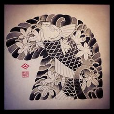 Эскиз в процессе. Тушь • Японская татуировка в Москве • 89162225535 • #кочевник #кочевниктату #тату #татуировка #япония #японскаятатуировка #японскаятатуировкавмоскве #kochevnik #kochevniktattoo #tattoo #tattooart #tattooed #japan #japanese #japanesetattoo #japanesetattooart #japanesetattooinmoscow #deathheadtattoo #sleevetattoo #worldfamous #inductiontattoomachines #tattoopharma #moscow #russia #tattooartist #tattoomaster #google #yandex Tigeraugen Tattoo, Koi Tattoo Sleeve, Koi Fish Tattoo, Japanese Tattoo Art, Japanese Tattoo Designs, Japanese Koi, Japanese Sleeve, Yakuza Girl, Chest And Back Tattoo