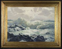 "Frederick Judd Waugh 'Ocean'  Oil on board  24 x 32"""