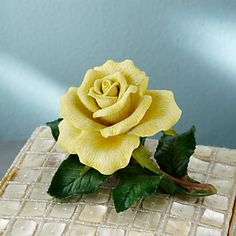 yellow lenox figurines | LENOX Figurines: Flowers - Yellow Rose Garden Flower Figurine