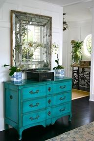 shabby chic gold turquoise living room - Google Search