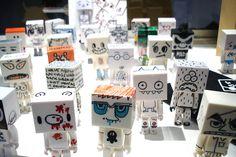 Tofu mini figures by Devilrobots