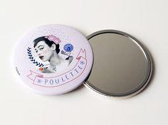 Miroir de poche 7,5 cm / Poulette For Life