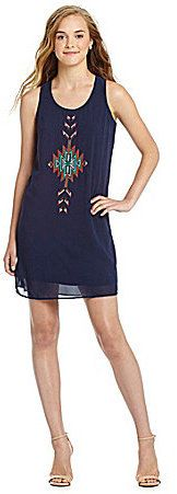I.N. San Francisco Sleeveless Embroidered Front Dress on shopstyle.com