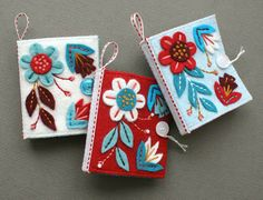these are needle notebooks, but could easily be made bigger to cover books....